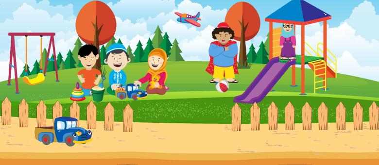 Top Terbaru Gambar Anak Bermain Di Taman Kartun